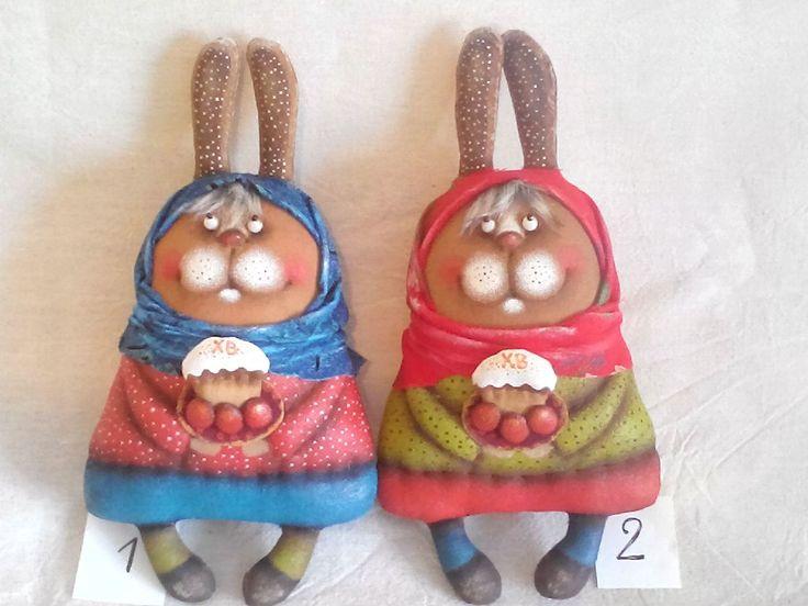 Купить Пасхальные зайки - текстильная игрушка, ароматизированная игрушка, зайка, Пасха, пасхальный сувенир