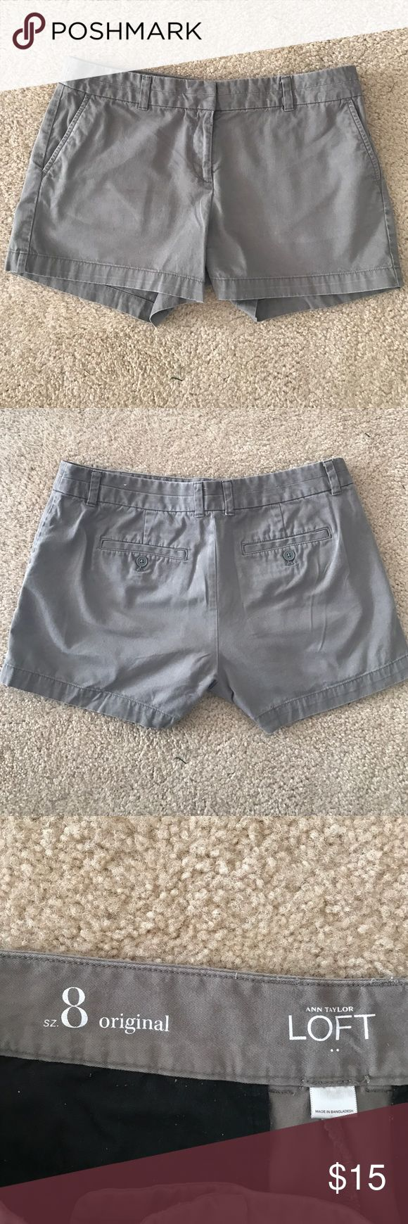 Loft gray shorts Size 8 gray shorts LOFT Shorts