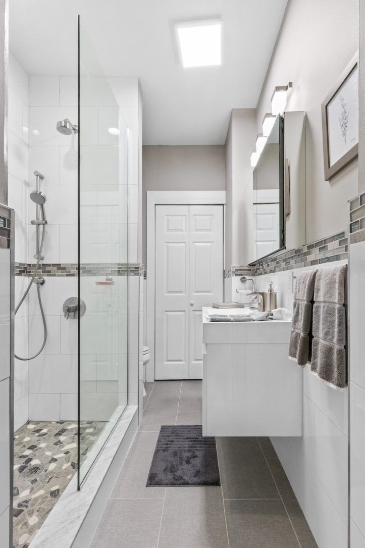 Aging In Place Renovation Of A Bathroom In Brooklyn With Images Bathroom Renovation Trends Bathroom Wallpaper Trends Bathrooms Remodel