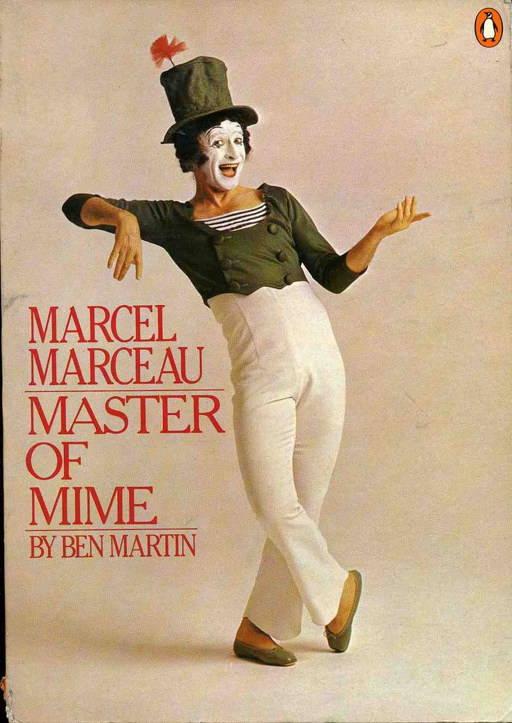 .Marcel Marceau, French mime artist, as Bip, the clown. My mother & I saw him perform in Sydney many years ago.