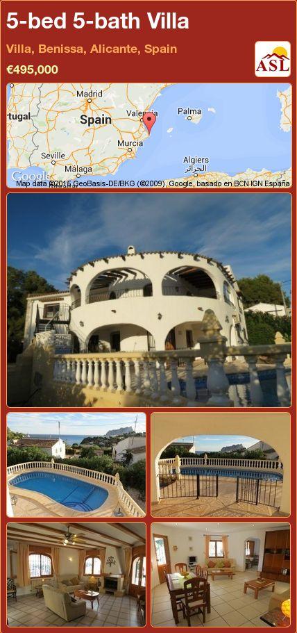 5-bed 5-bath Villa in Villa, Benissa, Alicante, Spain ►€495,000 #PropertyForSaleInSpain