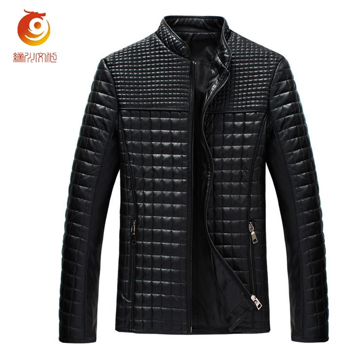 PU Leather Jacket Men Lederen Jassen Heren Faux Leather Casual Stand Collar Patchwork Autumn Winter Black Giacca Di Pelle Uomo