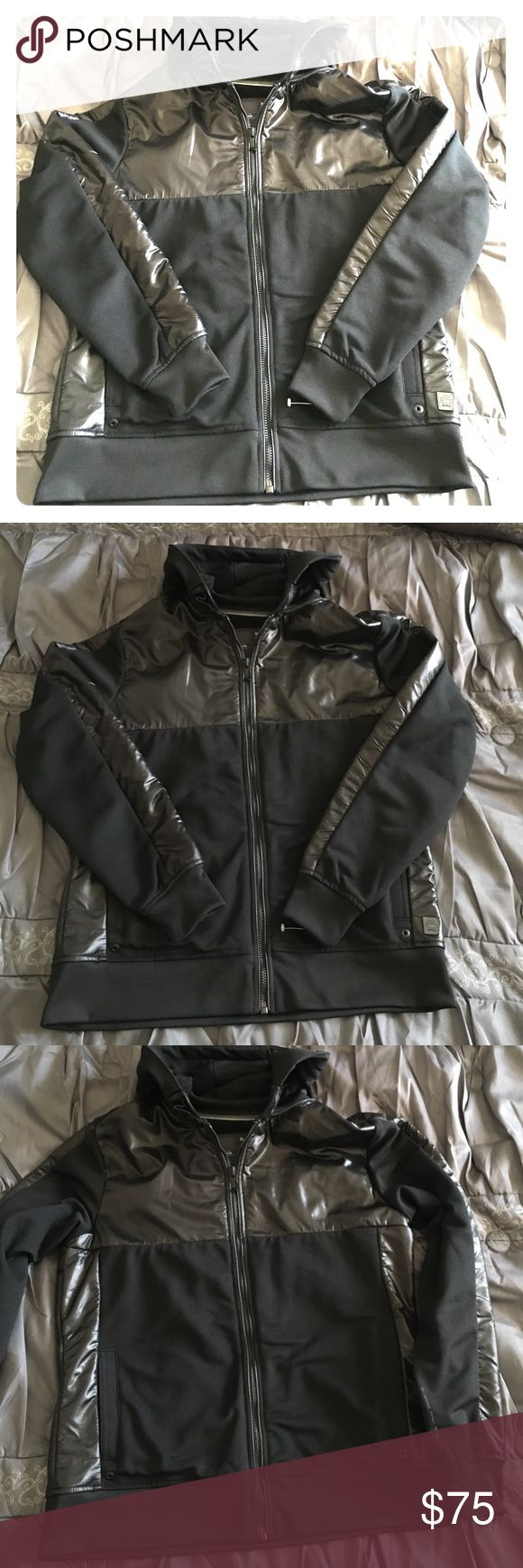 G STAR RAW Black Jacket Coat New but tags must've fallen off from storage. Also see photo of front emblem. Not sure if it faded or if it's supposed to be like that. Either way it looks great!! G Star Raw Denim Jackets & Coats Bomber & Varsity