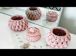 Penye ipten fındık sepet yapımı - YouTube