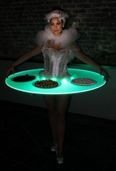 Hire / Book Lighted Living Table Hostesses