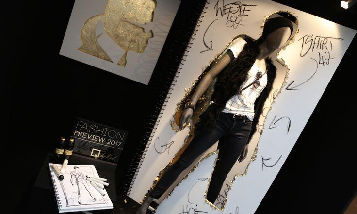 Q by Karl Fashion Preview   Abschluss Gestalter für visuelles Marketing   Innenarchitektur   Retail Design   Goldsteinstudios   Instore Installation   Visual Merchandising   Visual Marketing   Window Design  