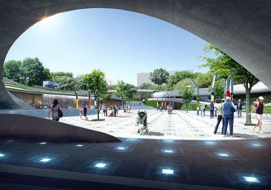 Magok Central Plaza Winning Proposal,Courtesy of Wooridongin Architects