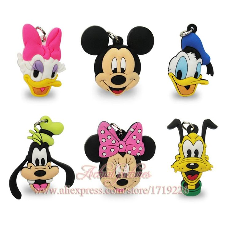 1pcs Hot Mickey Minnie PVC Charms Chokers Necklace Pendants For Business Card  Phone Bag Ribbon Kids Party Gifts School Supplies