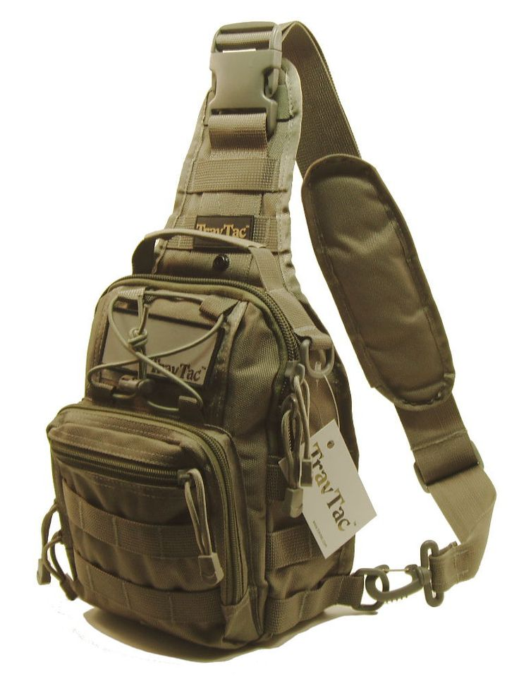 TravTac Stage II Tactical Sling Pack. Great for Everyday Carry. Small and Versatile Bag.