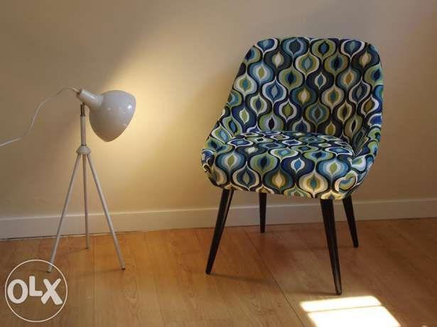 Fotel krzesło muszelka PRL retro Design loft Warszawa - image 1