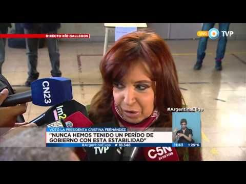 Palabras de la Presidenta Cristina Fernández luego de votar.