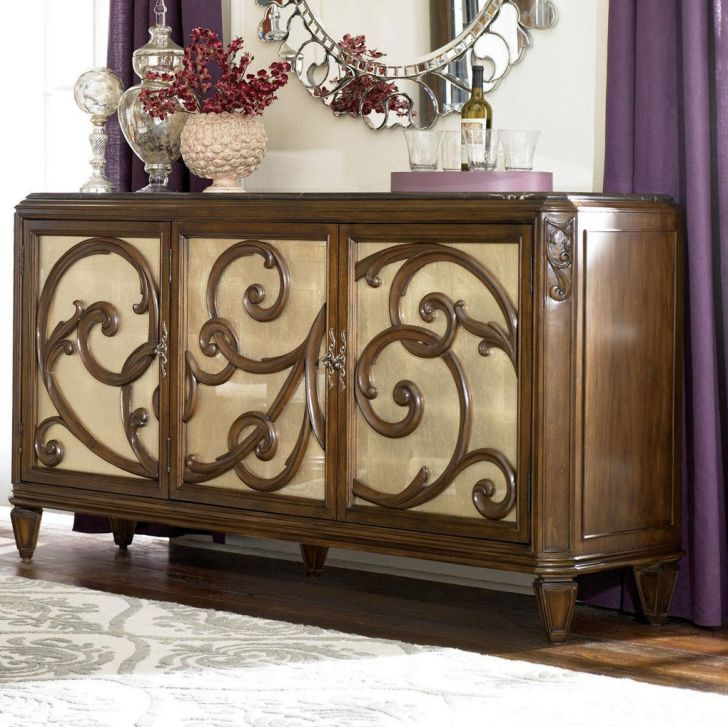 Lacks Furniture Brownsville Tx #19: American Drew Jessica McClintock Furniture Couture Buffet With Stone Top