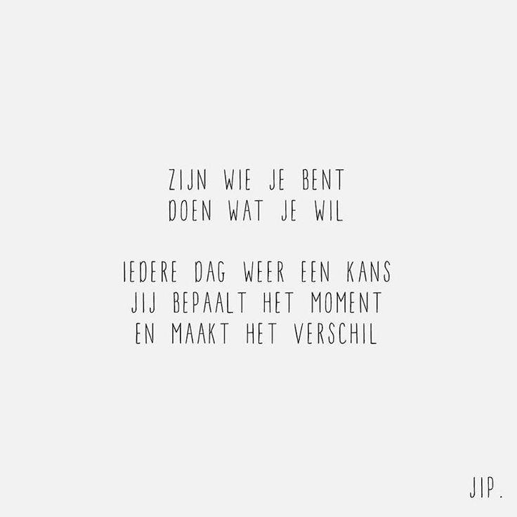 144 vind-ik-leuks, 3 reacties - Gewoon JIP. - Korte Gedichten (@jip_gewoon) op Instagram: 'Zijn wie je bent X JIP.'