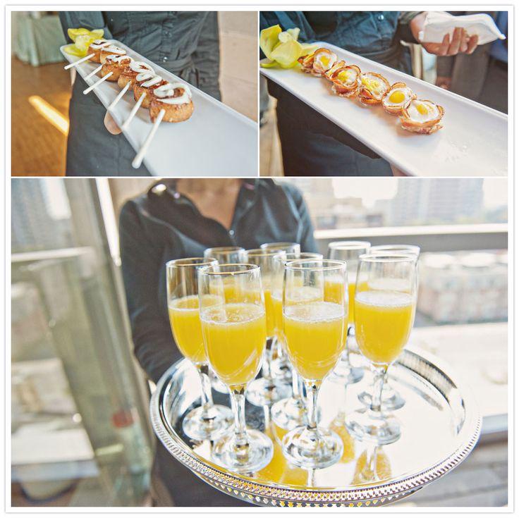 brunch wedding reception = mimosas and bacon