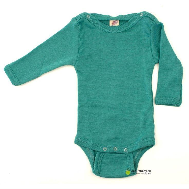 uld silke body fra engel i smaragd grøn
