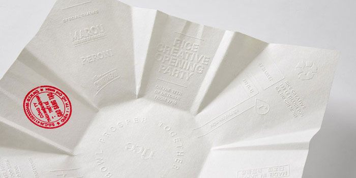 Rice Creative Party Invitation & Parting Gift - The Dieline -