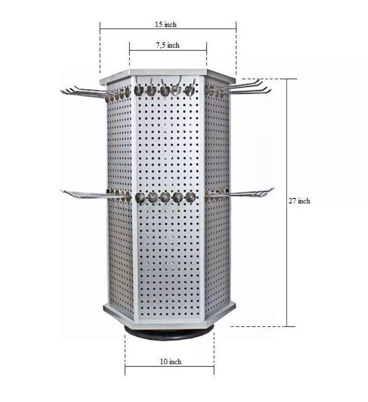 Counter top Rack US Aluminum 6 Sided Display Accessory Jewelry 60 Hooks CASE #UnbrandedGeneric