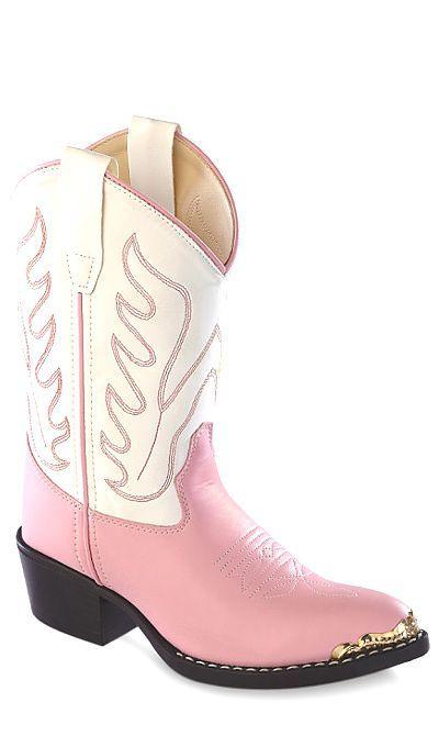 Kids Cowboy boots pink/white