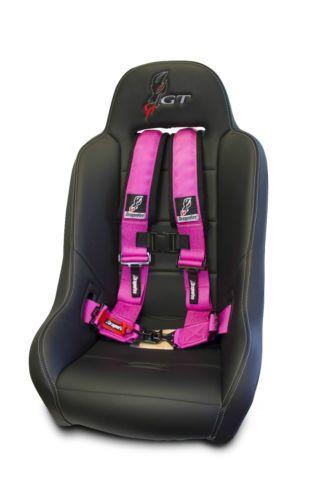 "Polaris RZR 570 Ace 4x4 DFR Pink 3""x3"" Sewn in Harness 4"