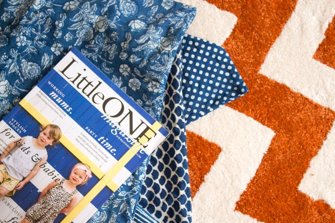 Rug - London - Orange Chevron from Carpet Call. Perfect for the kids room.