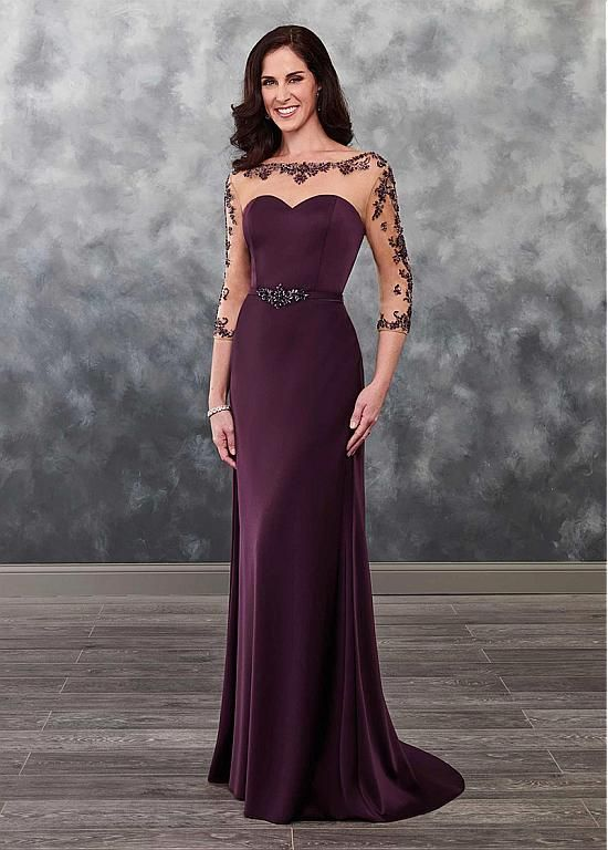 8c660d21b2b8 Romantic Tulle   Satin Bateau Neckline Mermaid Mother Of The Bride Dress  With Beadings   Belt