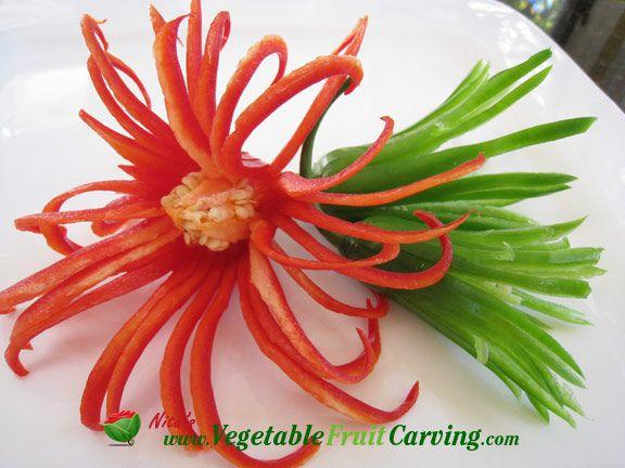 vegetable flowers garnish
