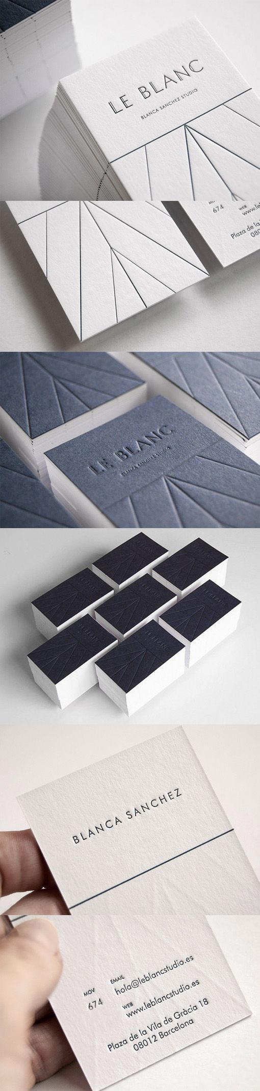 Stylish Textured Letterpress Business Card Design