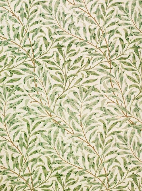 William Morris, 1887, Willow Bough wallpaper design