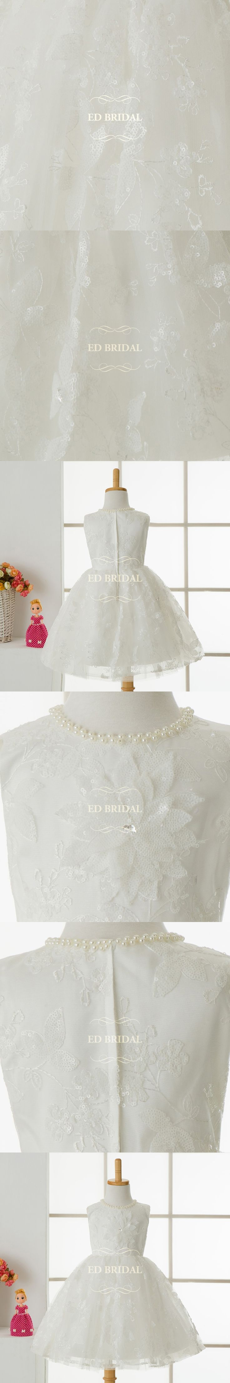 Sequined Lace Pearls Beaded First Communion Dresses for Girls Pageant Dresses for Girls Glitz Children Graduation Gowns