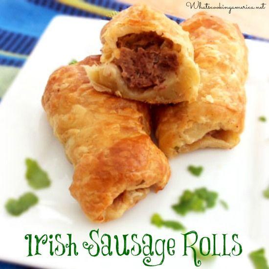 Irish Sausage Rolls Recipe  | whatscookingamerica.net  |