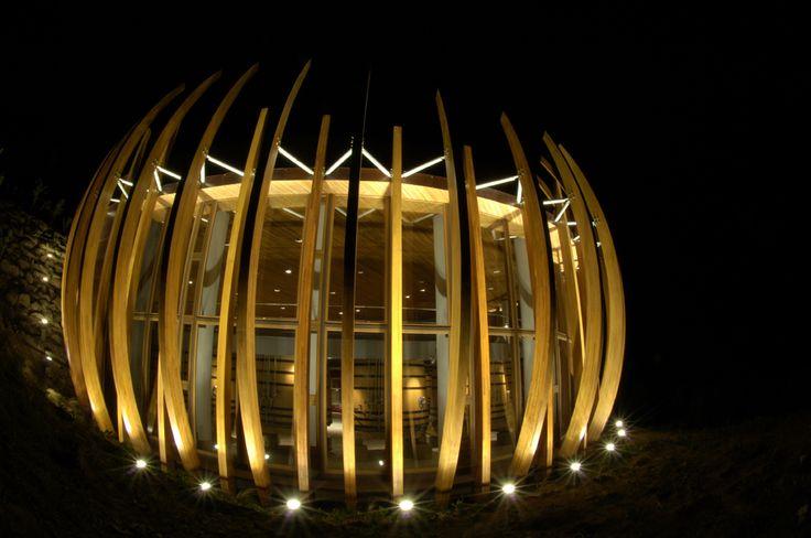 Night at Clos Apalta winery