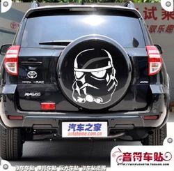 Примечания наклейки светоотражающие автомобильные фильм Звездные войны Войны Клонов Армии бурю 6684