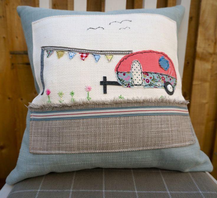 Happy Campers Caravan Cushion By Tawnydesigns On Etsy Https Www
