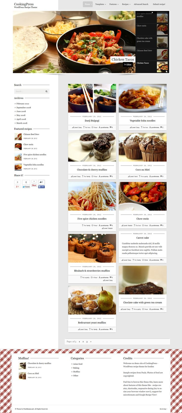 Mejores 858 imgenes de wordpress themes en pinterest tema de cookingpress recipe food wordpress theme webdesign website download http forumfinder