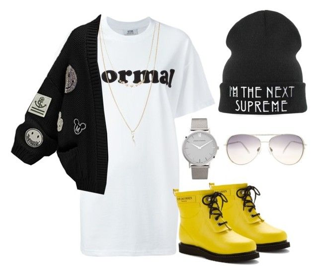 """""""Kiss Me X PartyNextDoor"""" by tymeshac ❤ liked on Polyvore featuring GCDS, Ilse Jacobsen Hornbaek, Larsson & Jennings, Forever 21, WithChic, Lane Bryant and CO"""