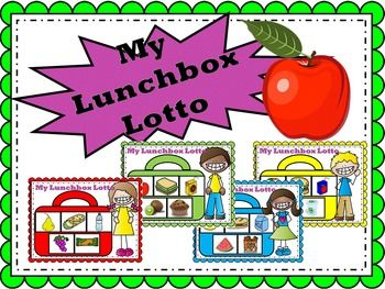 HEALTHY KIDS ARE HAPPY KIDS!   Healthy Eating - My Lunchbox Lotto Game   4 Colorful Lunchbox Mats  20 My Lunchbox Lotto Cards   Memory and matching games help children develop their visual memory.  This is an important skill for learning to spell and read.  Good visual memory helps to recall words and the letter order of words.