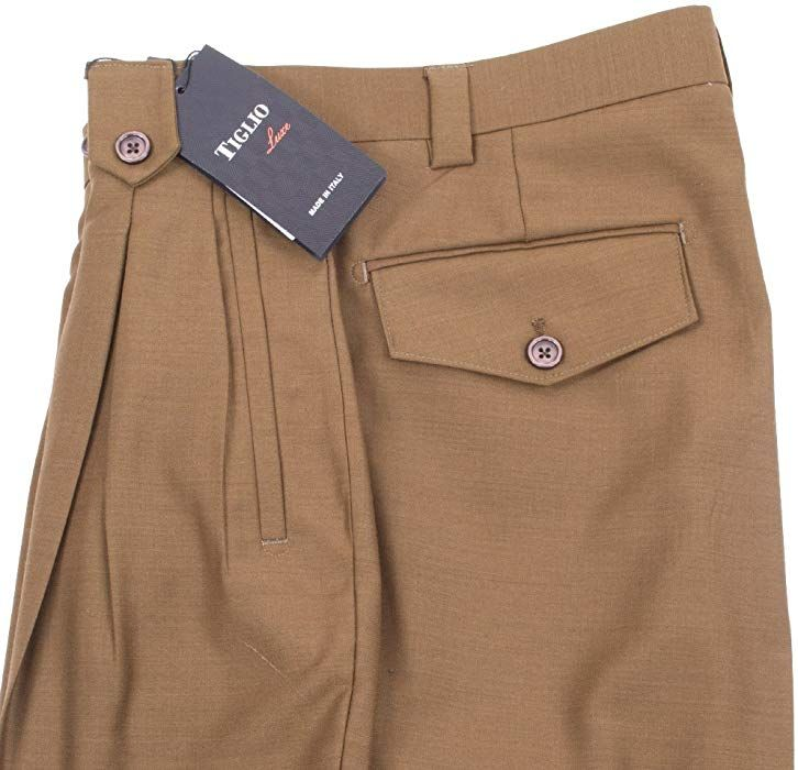 Tiglio Burgundy Wide Leg Pure Wool Dress Pants 2576