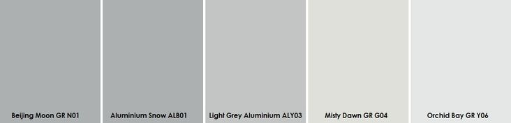 Plascon Light Greys  Paint Sample