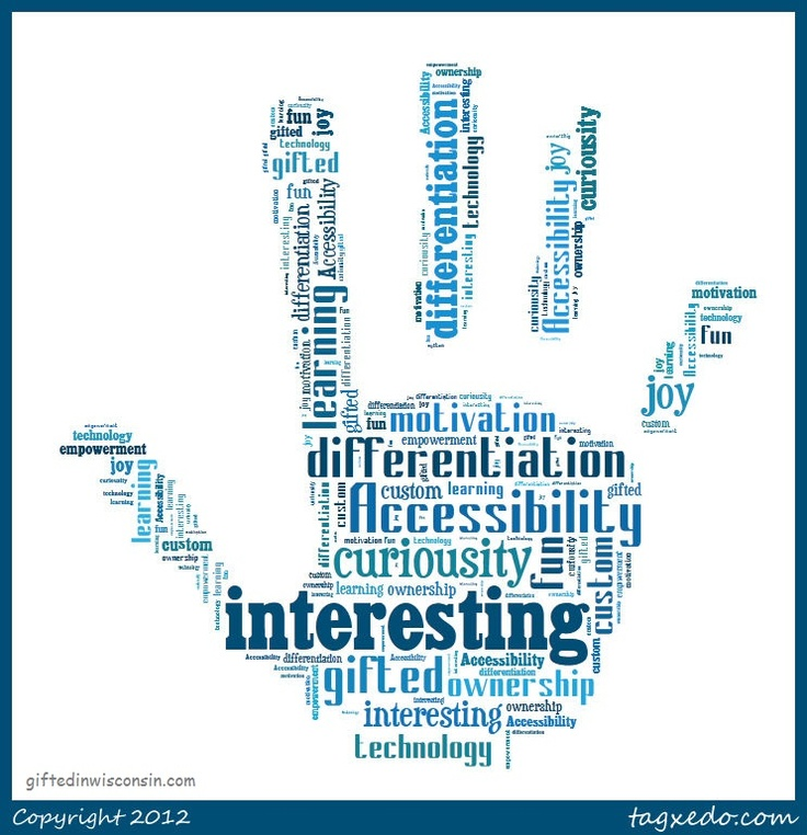 A neat Tagxedo representation of Gifted Education