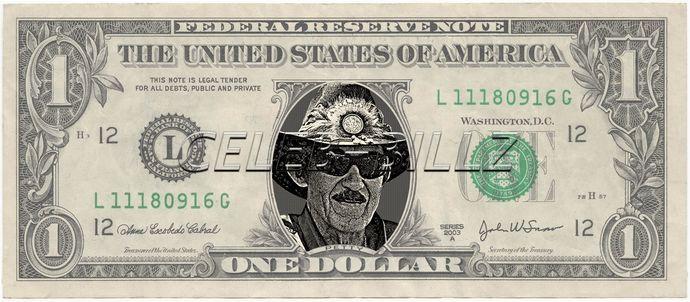 RICHARD PETTY – Real Dollar Bill Cash Money Collectible Memorabilia Celebrity Novelty Bank Note Dinero