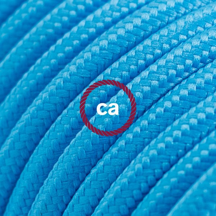 Round Electric Cable covered by Rayon solid color fabric RM11 Turquoise Choose your country here: Italy: www.creative-cables.it USA: www.creative-cables.com Europe&Australia:www.creative-cables.net www.creative-cables.net #lighting #illuminazione #homedecor #house #haus #maison #hogar #casa #design #fabric #madeinitaly