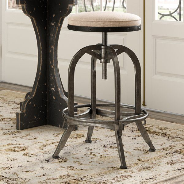 Emily Adjustable Height Swivel Bar Stool Bar Stools Farmhouse Stools Vintage Bar Stools