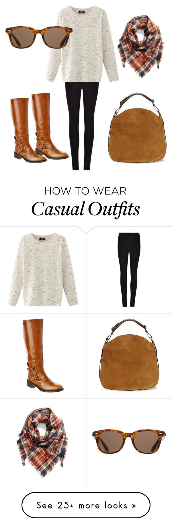 """casual at the college"" by poisonivy72 on Polyvore featuring Winser London, Nolita, Charles David, UGG, BP. and ToyShades"