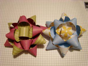 DIY bows.  Mine would use a lot less tools and precision.  pretty much scissors and double sided tape...