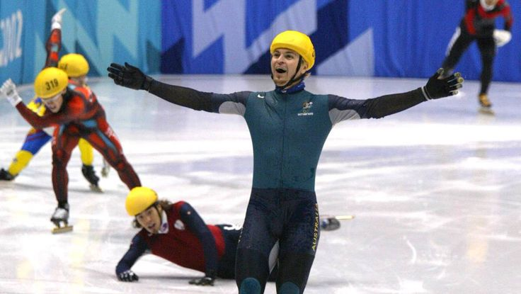 """In an unlikely series of events, short-track speed skater Steven Bradbury became the first Australian to win a gold medal at the 2002 Salt Lake City Winter Olympics. Bradbury's feat has entered the Australian colloquial vernacular in the phrase """"doing a Bradbury"""", or """"Bradburied"""" (as a verb). Meaning: To win as a result of miraculous circumstances, despite being in a losing position.  Click on the pin to view the video."""