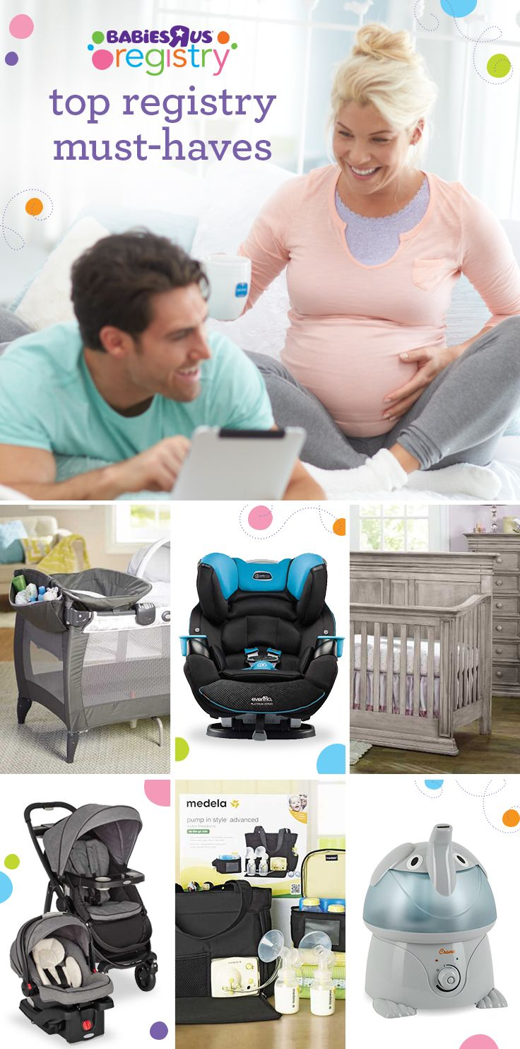 Check out these great registry must have picks for your new life with your baby. Each item has appealing design, built-in capabilities and long term value because we know how much you care about your baby and want to protect them in every way. They're all parent favorites; make the perfect room for sleepy time, get ready to take a stroll, be prepared for a feeding and get excited for play time. Sign up for your registry with Babies R Us and you will be well under way with our must haves.