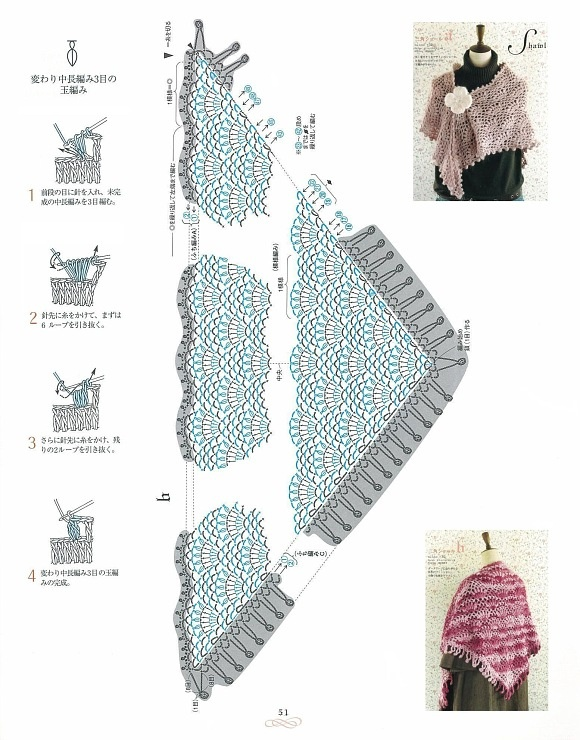 Free Crochet Shawl Diagram : 131 best images about Shawls on Pinterest
