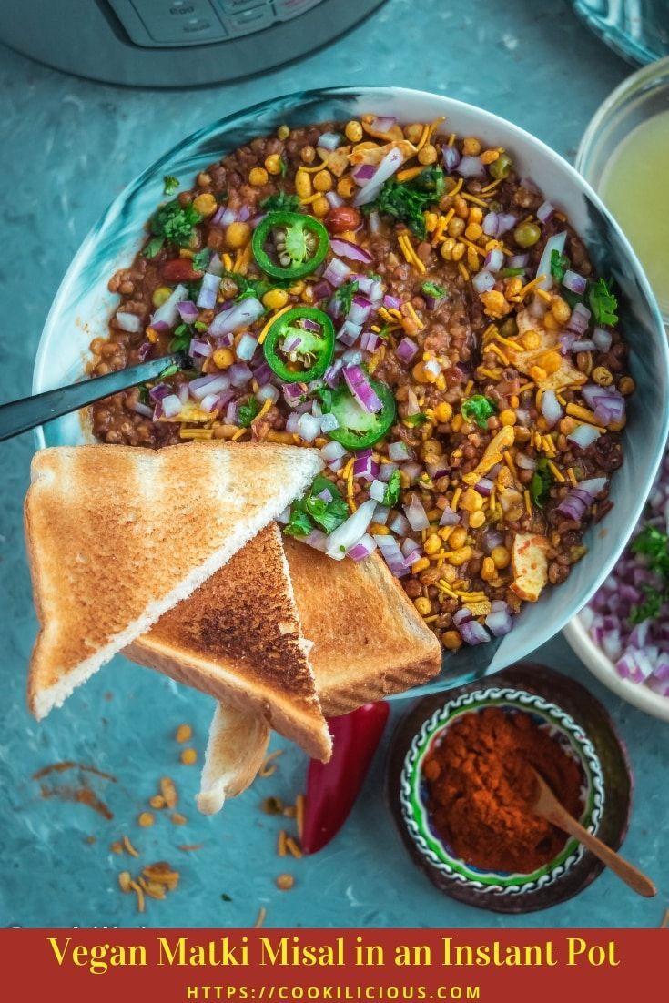 Vegan Matki Misal In An Instant Pot