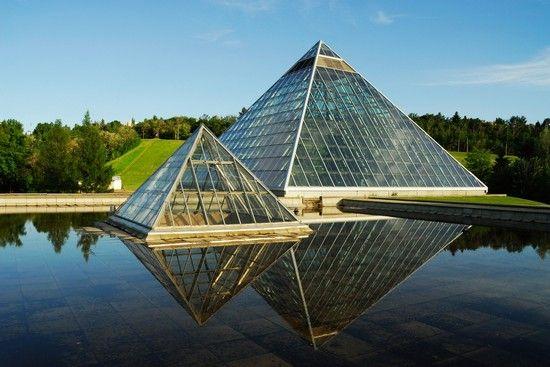 The Muttart Conservatory, Edmonton Alberta Canada.