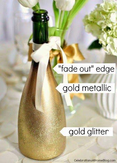 Festlige Fif: Glitterflaske - til den glamourøse borddækning